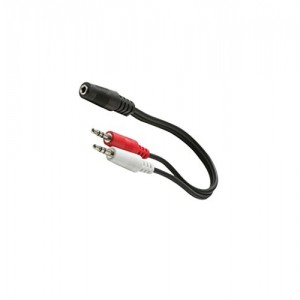 C&E® CNE428807 6-Inch 3.5mm Stereo Jack to 2-3.5mm Stereo Plug Y Audio Patch Cord
