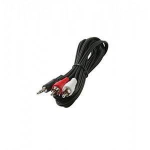 C&E® CNE428999 12-Feet 3.5mm Stereo Plug to 2-RCA Plug Y Audio Patch Cord