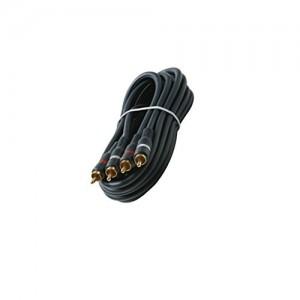 C&E® CNE426827 3-Feet 2-RCA Stereo Audio Cable, Black