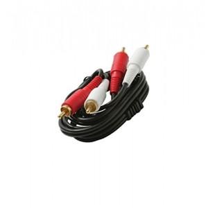 C&E® 2-RCA Premium Audio Patch Cord Red-White to Red-White, 12 Feet, CNE431036