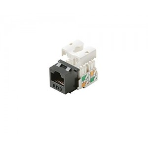 C&E® Keystone Cat6 RJ45 90 Degree Jack, Black (CNE440595)