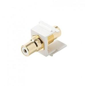 C&E® CNE442872 Keystone RCA Jack Adapter White Insulator, White