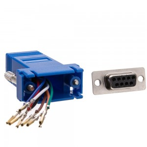 Modular Adapter, Blue, DB9 Female to RJ45 Jack