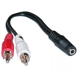 C&E® 3.5mm Female to Dual RCA Male, Audio Adapter Cable (Red/White), 6 Inch, CNE457807