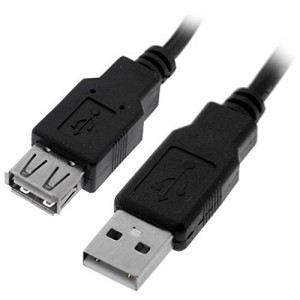 C&E® USB 2.0 Extension Cable, Black, A Male to A Female 10 Feet CNE460463
