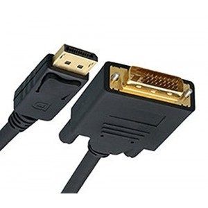 C&E® 15 Feet DisplayPort to DVI Video Cable, DisplayPort Male to DVI Male, CNE464324