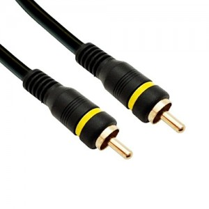 RCA Male to Male Gold-Plated Connectors 50 Feet Black, CNE466328