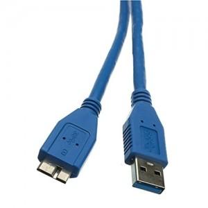 C&E®1 feet USB 3.0 A male to Micro B Cable Blue, CNE467684
