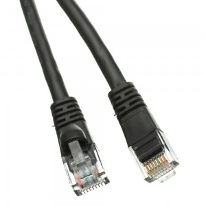 C&E® Cat5e Ethernet Patch Cable, Snagless/Molded Boot, 6 Inch Black, CNE469787