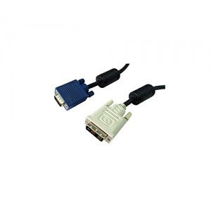 C&E® DVI-A to VGA Cable (Analog), DVI-A Male to HD15 Male, 5 Meter (16.5-Feet), Black (CNE471865)