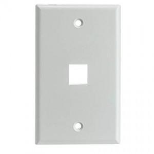 C&E® Keystone Wall Plate, 1 Hole, Single Gang, White, CNE468551