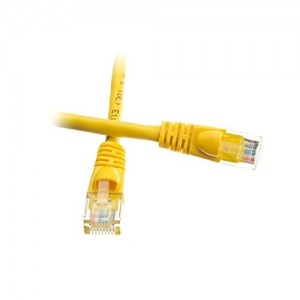 C&E® Cat5e Ethernet Patch Cable, Snagless/Molded Boot 6 Inch Yellow, CNE485114