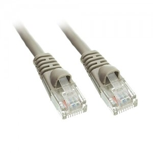 C&E® Cat5e Ethernet Patch Cable, Snagless/Molded Boot 6 Inch Gray, CNE487354