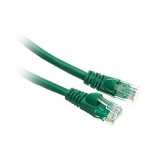 C&E® Cat5e Ethernet Patch Cable, Snagless/Molded Boot 6 Inch Green, CNE496516