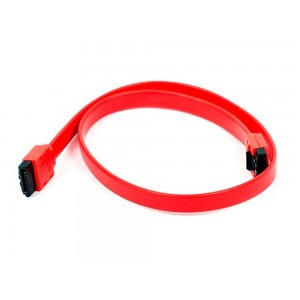C&E® 18 inch SATA 6Gbps Cable w/Locking Latch Red, CNE532998