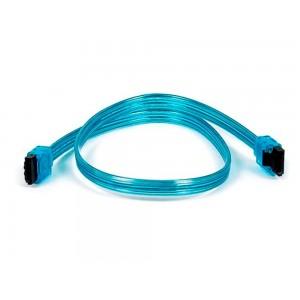 C&E® 18 inch SATA 6Gbps Cable w/Locking Latch UV Blue, CNE533087