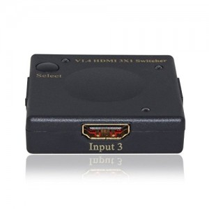 C&E® HDMI Intelligent Mini Switch 3X1 v1.4 Supports, 3D 4Kx2K, CNE545448