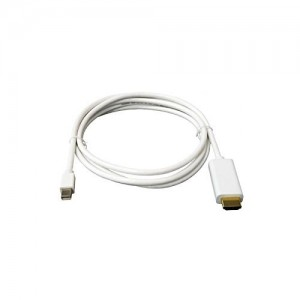 C&E® Mini DisplayPort to HDMI w/Audio Cable 32AWG - White, 6 Feet CNE577791