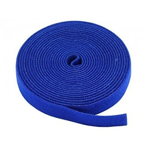 "0.75"" One Wrap Hook & Loop Fastening Tape 5 yd/Roll Blue, CNE588988"