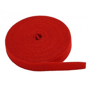 "0.75"" One Wrap Hook & Loop Fastening Tape 5 yd/Roll Red, CNE588926"