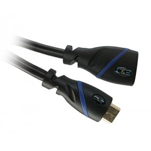C&E® CNE582665 1.5 Feet HDMI Female A to Mini HDMI Male Cable