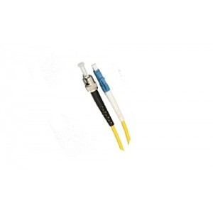 C&E® CNE623788 LC/ST Simplex, Single Mode, 9/125 Fiber Optic Patch Cord, Yellow, 1 Meter