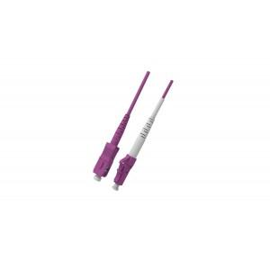 C&E® CNE625348 SC/LC Simplex, Multimode, 50/125 Fiber Optic Patch Cord, Violet, 1 Meter