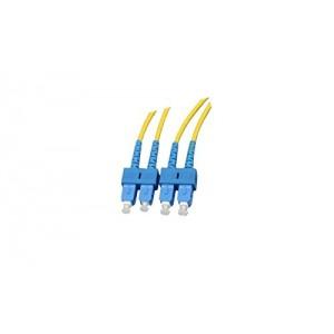 C&E® CNE625522 SC/SC Duplex, Single Mode, 9/125 Fiber Optic Patch Cord, Yellow, 1 Meter