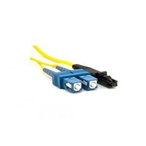 C&E® CNE626000 SC/MTRJ Duplex, Single Mode, 9/125 Fiber Optic Patch Cord, Yellow, 1 Meter
