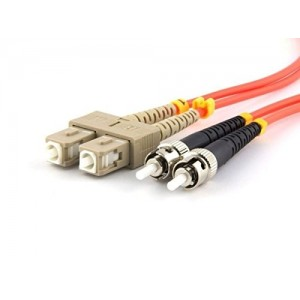 C&E® CNE626482 SC/ST Duplex, Multimode, 62.5/125 Fiber Optic Patch Cord, Orange, 1 Meter