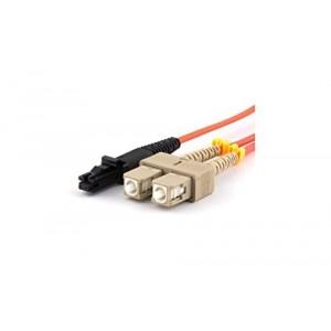 C&E® CNE627328 SC/MTRJ Duplex, Multimode, 50/125 Fiber Optic Patch Cord, Orange, 1 Meter