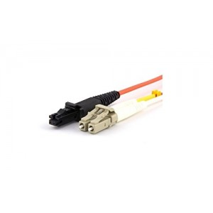 C&E® CNE627380 LC/MTRJ Duplex, Multimode, 50/125 Fiber Optic Patch Cord, Orange, 1 Meter