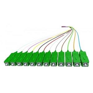 C&E® CNE629063 12 Color Optic Pigtail, SC/UPC Single Mode, 9/125 0.9 Multimode Pvc Tight Buffer, 2m