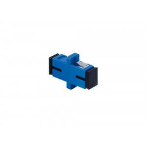 C&E® CNE629964 SC to UPC Single Mode, Simplex Adaptor with Flange, Ceramic Sleeve, Blue Color