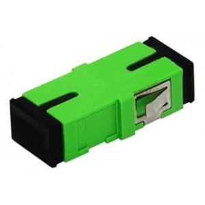 C&E® CNE630021 SC to APC Single Mode, Simplex Adaptor with Flange, Ceramic Sleeve, Green Color