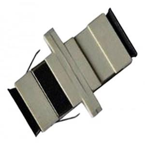 C&E® CNE630083 SC to PC Multimode, Simplex Adaptor with Flange, Ceramic Sleeve, Beige Color