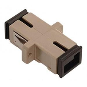 C&E® CNE630144 SC to PC Multimode, Simplex Adaptor with Flange, Ceramic Sleeve, Beige Color