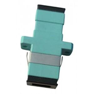 C&E® CNE630205 SC to PC Multimode, Simplex Adaptor with Flange, Ceramic Sleeve, Aqua Color