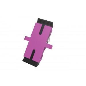 C&E® CNE630267 SC to PC Multimode, Simplex Adaptor with Flange, Ceramic Sleeve, Violet Color