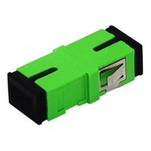 C&E® CNE630380 SC to APC Single Mode, Simplex Adaptor Without Flange, Ceramic Sleeve, Green Color