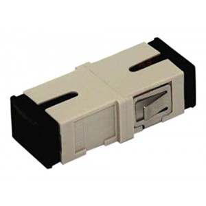 C&E® CNE630441 SC to PC Multimode, Simplex Adaptor Without Flange, Ceramic Sleeve, Beige Color