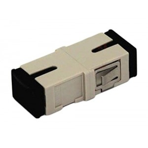 C&E® CNE630502 SC to PC Multimode, Simplex Adaptor Without Flange, Ceramic Sleeve, Beige Color
