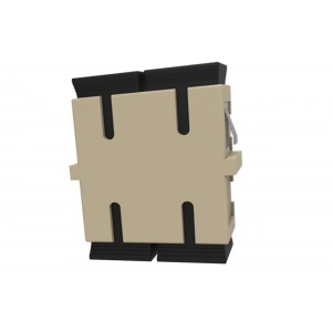 C&E® CNE631165 SC to PC Multimode, Duplex Adaptor Without Flange, Ceramic Sleeve, Beige Color