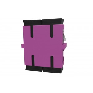 C&E® CNE631349 SC to PC Multimode, Duplex Adaptor Without Flange, Ceramic Sleeve, Violet Color
