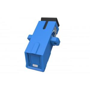 C&E® CNE631400 SC to UPC Simplex Adaptor with Inner Shutter & Flange, Unibody Design, Blue Color