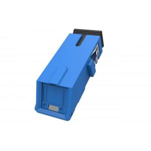 C&E® CNE631523 SC to UPC Simplex Adaptor with Inner Shutter & Flangeless, Unibody Design, Blue Color