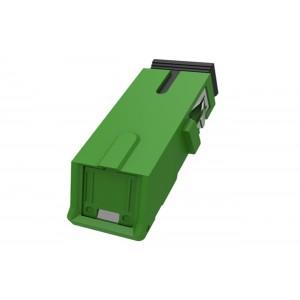 C&E® CNE631585 SC to APC Simplex Adaptor with Inner Shutter & Flangeless, Unibody Design, Green Color