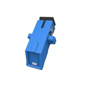 C&E® CNE631646 SC to UPC Simplex Adaptor with Outer Shutter & Flange, Unibody Design, Blue Color