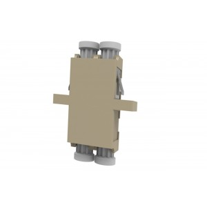 C&E® CNE632063 LC to PC Multimode, Duplex Adaptor with Flange, Ceramic Sleeve, Beige Color