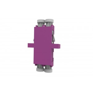 C&E® CNE632186 LC to PC Multimode, Duplex Adaptor with Flange, Ceramic Sleeve, Violet Color